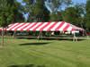 Red And White Striped Frame Tent