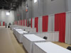 Red And Silver Exposition Booths
