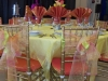 Organza Chair Ties, Orange Chiavari Seat Covers