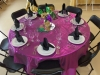 Mardi Gras Linen, Black Chairs