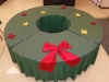 Christmas Theme Wreath Table