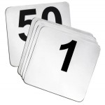 Table Numbers 1-50, tent numbers, place cards