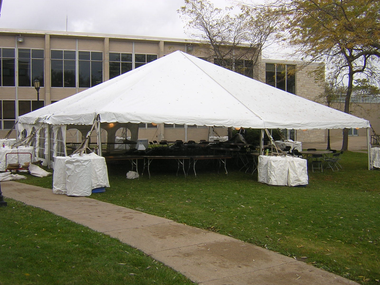 40u0027 Wide frame tent tent with no center pole white canopy & Tenting | General Rental