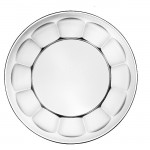 "Scalloped Plate, 7"", glass plate, salad plate, dessert plate, hors d'oeuvres plate"