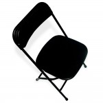 Black on Black, folding chair, indoor chair, plastic chair