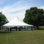 30' Wide, large party tent, wedding tent, white tent, picnic tent