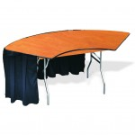 Serpentine, buffet table, crescent table