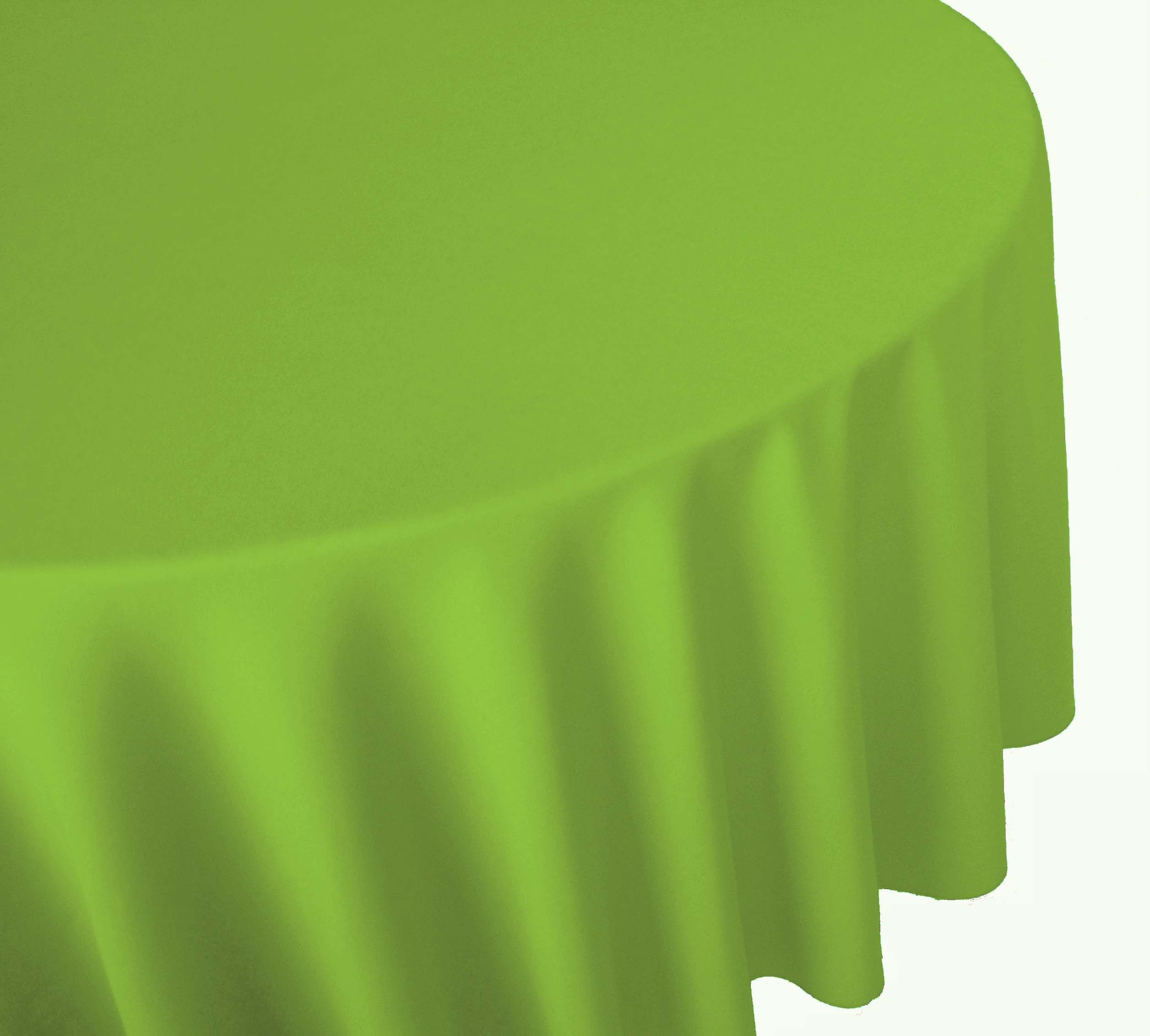 Lime Green Linen Table Cover Cloth Banquet Round