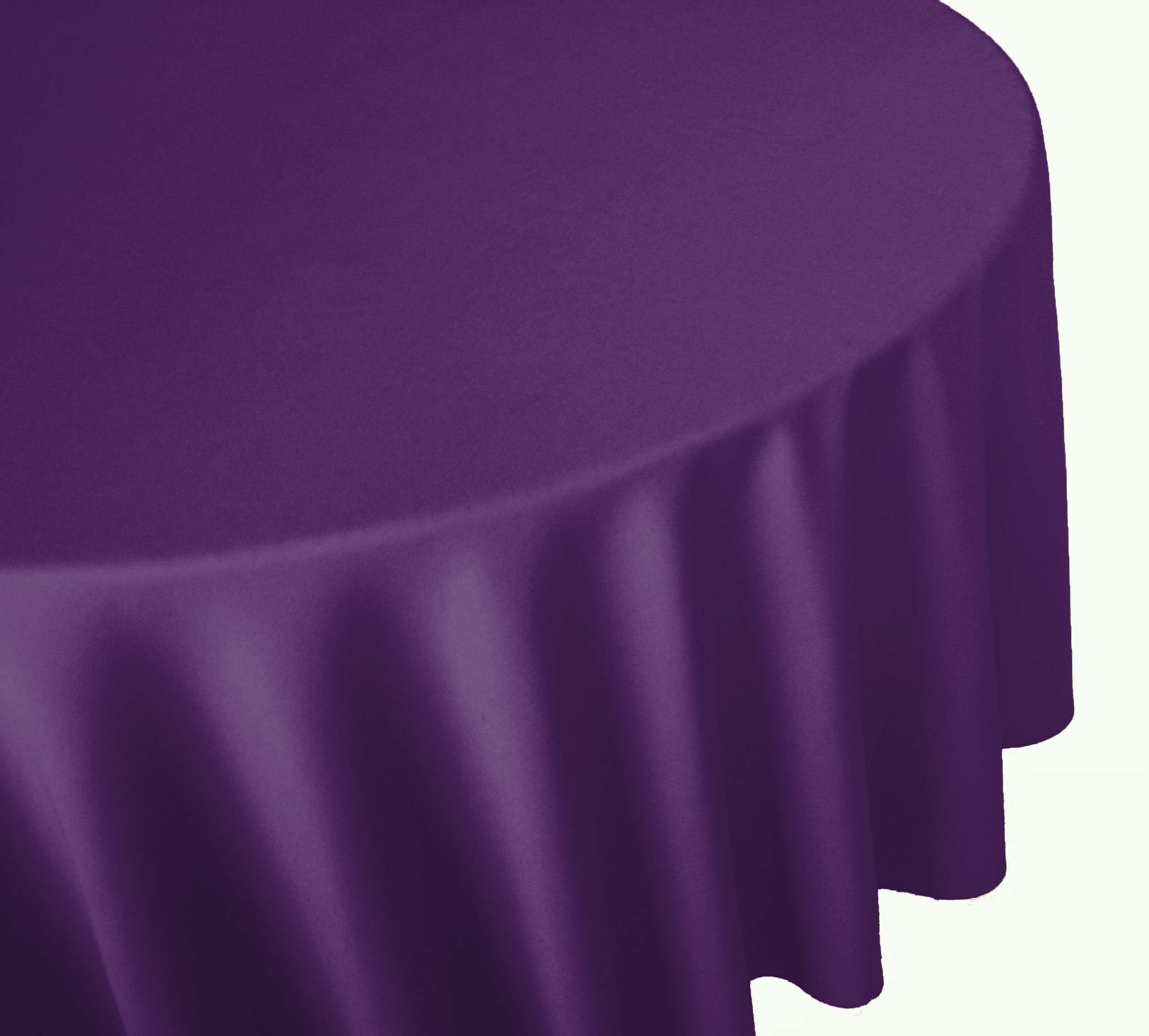 Purple Linen Table Cover Cloth Banquet Round