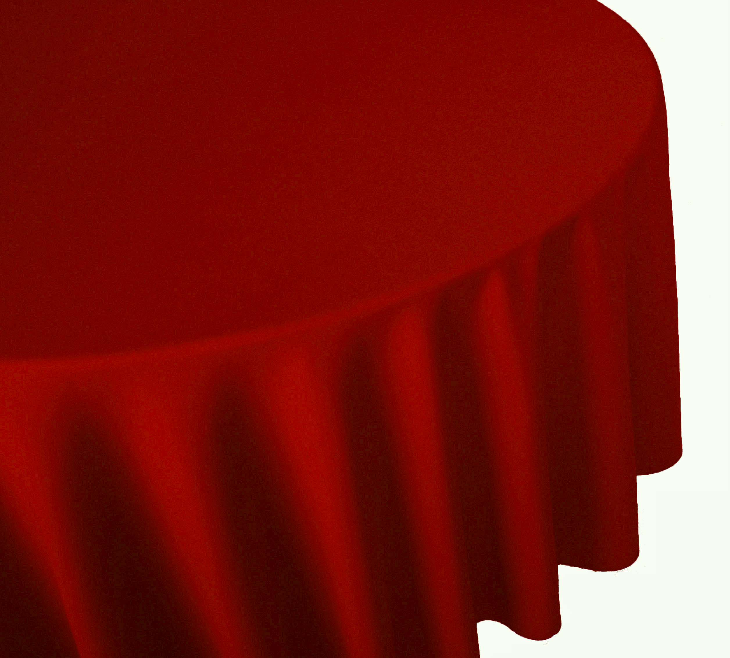 Red Linen Table Cover Cloth Banquet Round